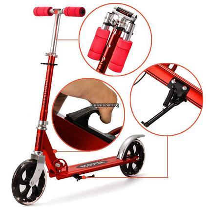 Самокат Adult Scooter до 100кг (самокат для взрослых) скутер для подростков, самокат для подростков), фото 2