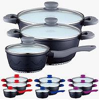 Набор посуды PETERHOF PH-15706 с белым керамическим покрытием