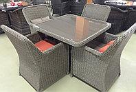 Комплект мебели из искусственного ротанга(бежевый с двух цветными подушками), фото 1