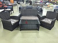 Комплект софа столик два кресла, фото 1