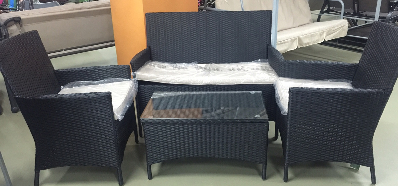 Софа + 2 кресла и столик