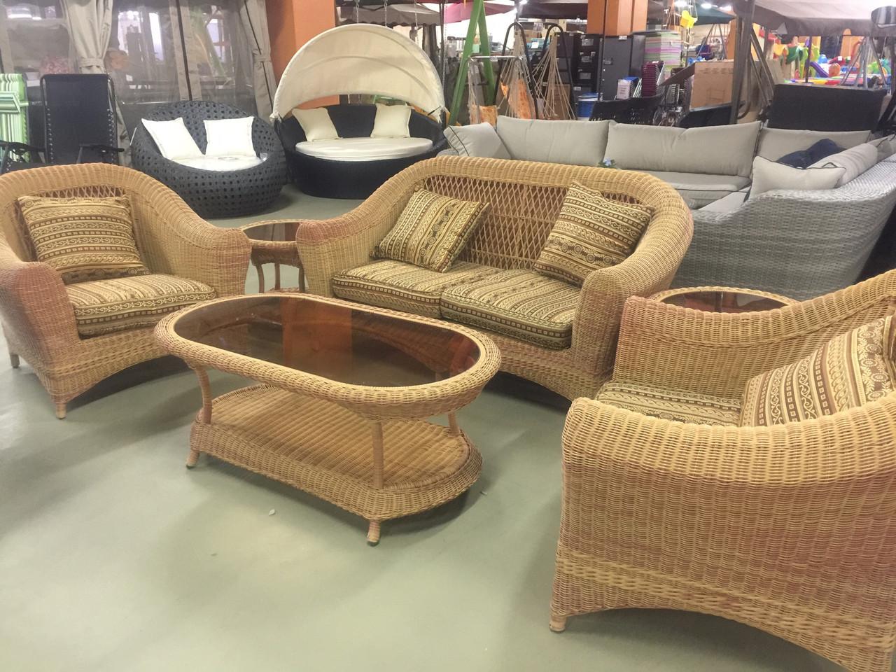 Комплект мебели софа два кресла столик плюс два столика придиванных