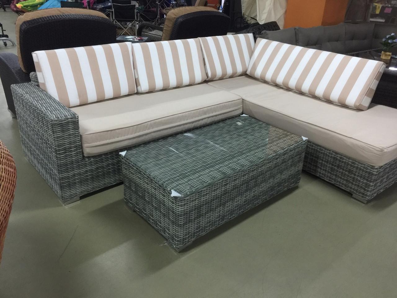 Комплект угловой диван столик