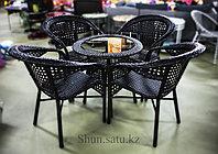 Стол+4 стула искусственный ротанг