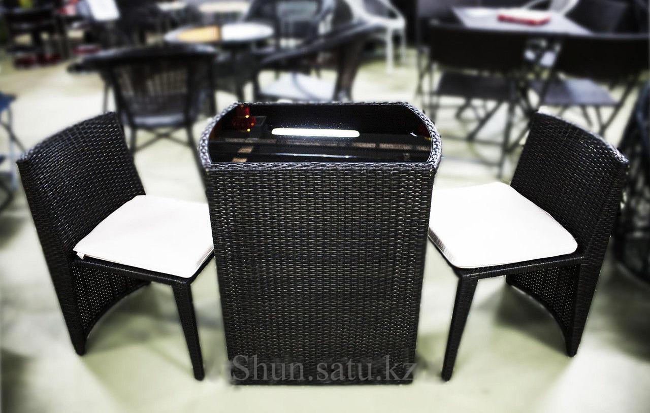 Комплект мебели из ротанга для двоих (RT25), Алматы