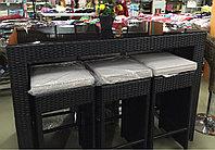 Комплект мебели из искусственного ротанга (барный столик и 6 стульев), фото 1