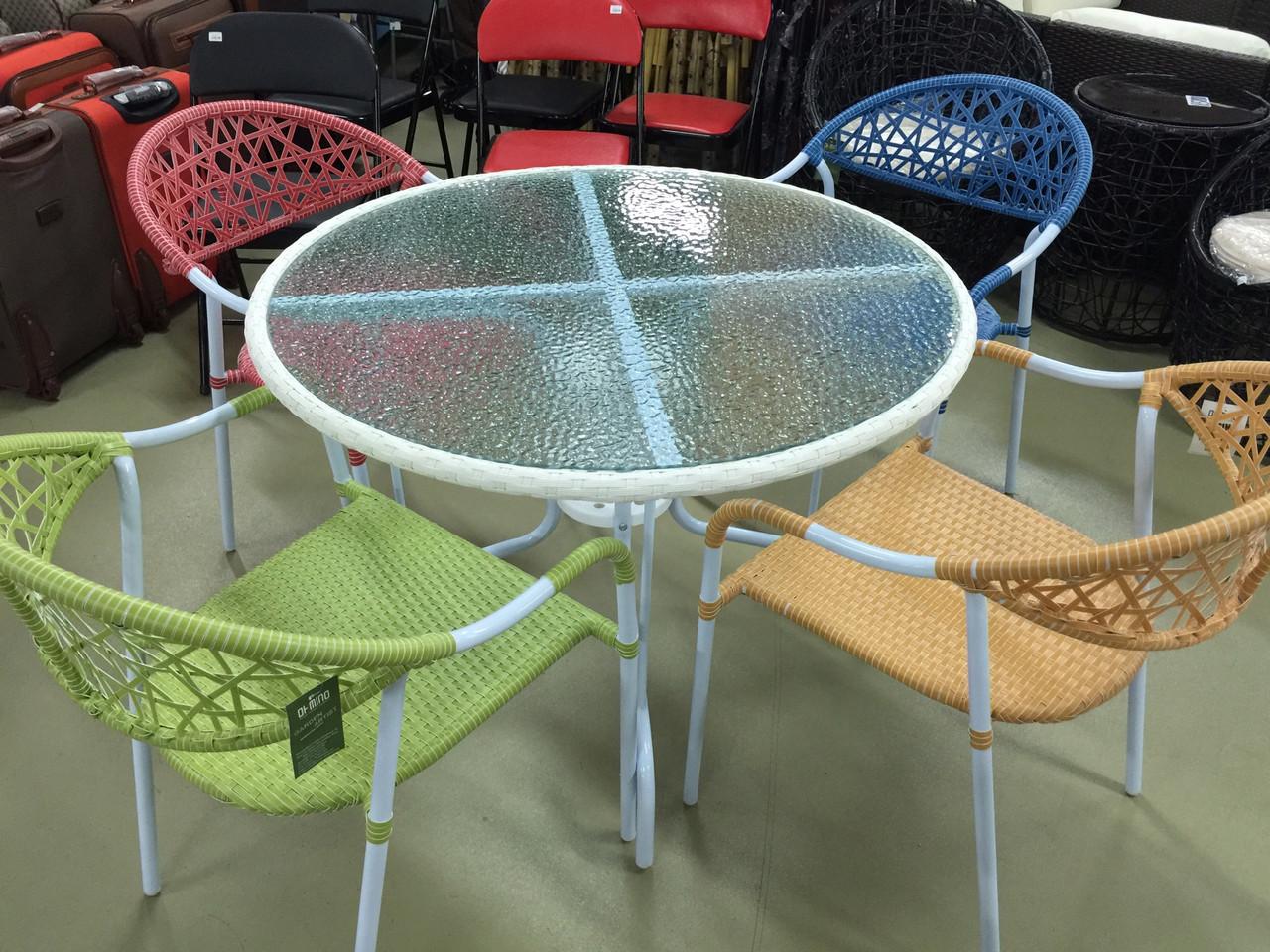 Обеденная группа стол 4 кресла
