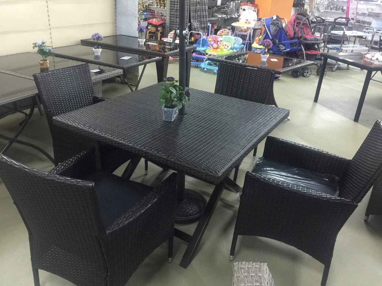 Комплект стол 4 кресла