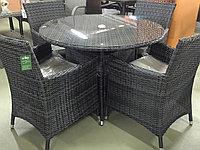 Комплект мебели из искусственного ротанга (черный), фото 1