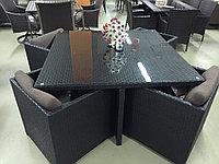 Набор мебели, стол + четыре кресла, искусственный ротнаг, фото 1