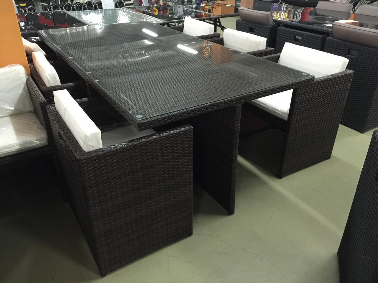 Набор мебели, стол + 8 стульев
