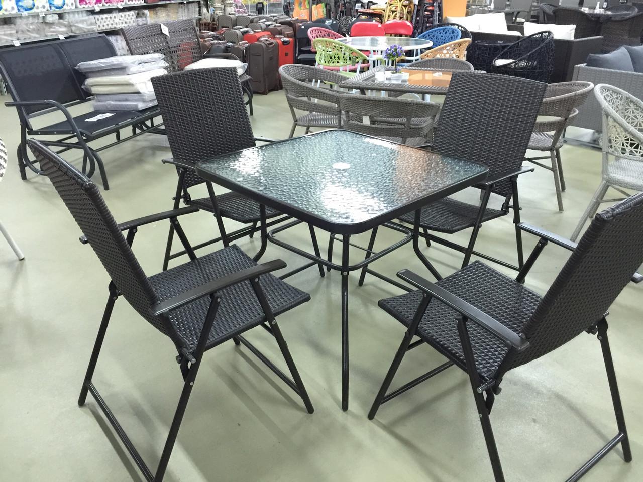 Комплект мебели из искусственного ротанга (коричневый)