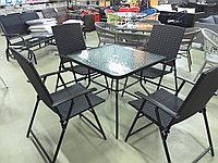 Комплект мебели из искусственного ротанга (коричневый), фото 1