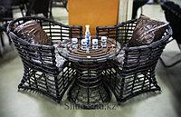 Набор мебели, стол + два стула, искусственный ротнаг