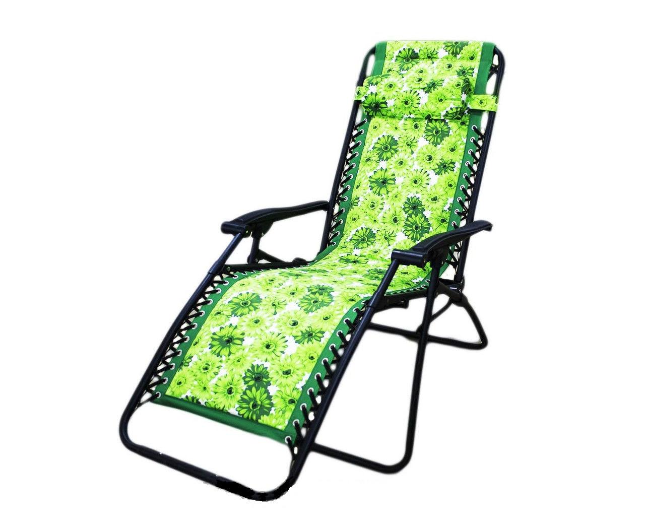 Шезлонг, 65 * 163 см, зеленый