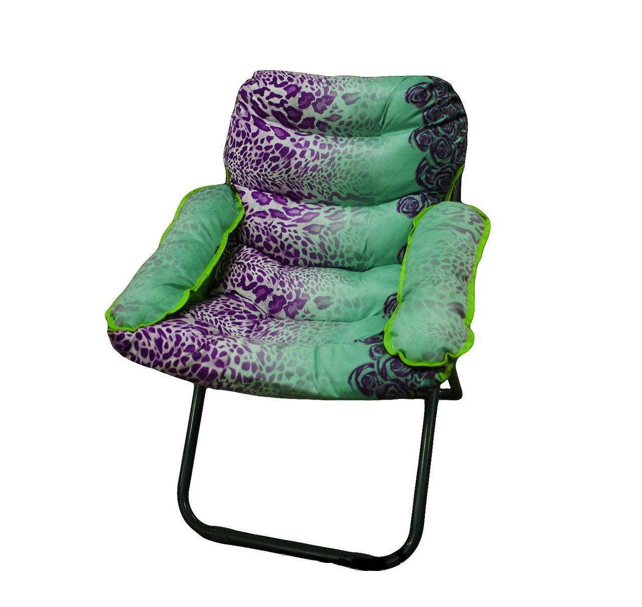 Кресло, 73 * 97 см, фиолетово-зеленый