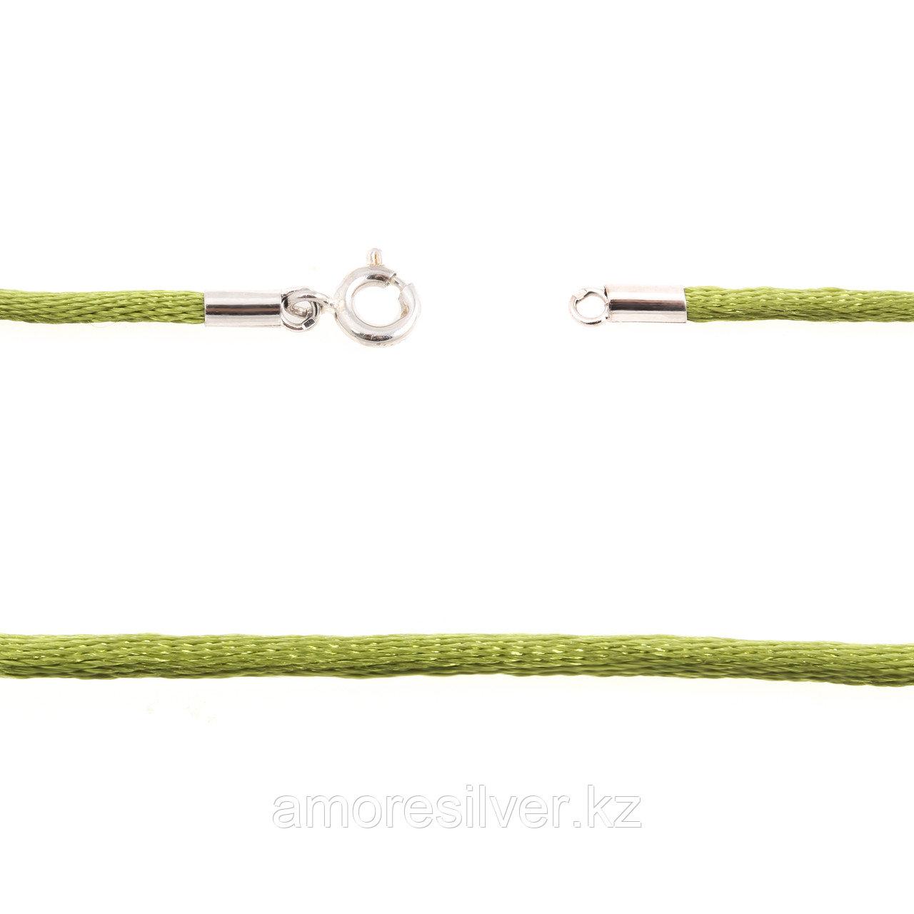 Шнур Teosa серебро с родием C14-green-40