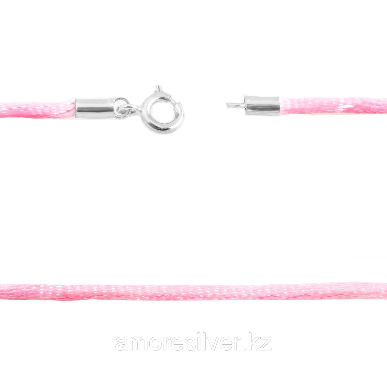 Шнур Teosa серебро с родием C3-pink-45