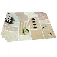 0652 FISSMAN Комплект из 4 сервировочных ковриков на обеденный стол 43,5x28,5 см (пластик)