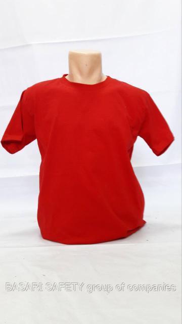 Трикотажный футболка красный