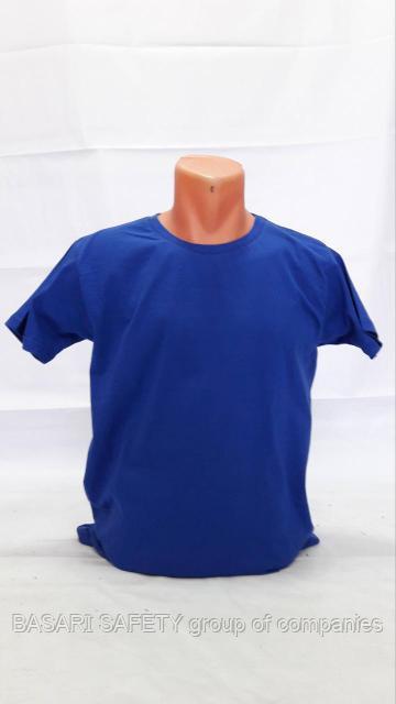 Трикотажный футболка синий