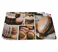 0655 FISSMAN Комплект из 4 сервировочных ковриков на обеденный стол 43,5x28,5 см (пластик)