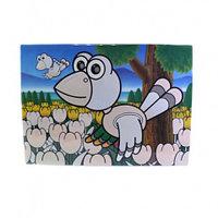 0667 FISSMAN Многоразовый коврик для рисования водой ПТИЧКА 29x21 см (пластик)
