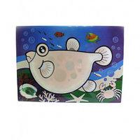 0668 FISSMAN Многоразовый коврик для рисования водой РЫБКА 29x21 см (пластик)