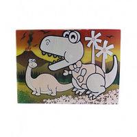 0669 FISSMAN Многоразовый коврик для рисования водой ДИНОЗАВРИКИ 29x21 см (пластик)