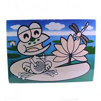 0670 FISSMAN Многоразовый коврик для рисования водой ЛЯГУШОНОК 29x21 см (пластик)