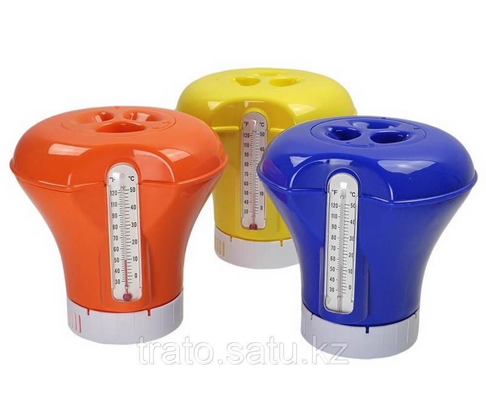 Плавающий дозатор-поплавок с термометром 18,5 см