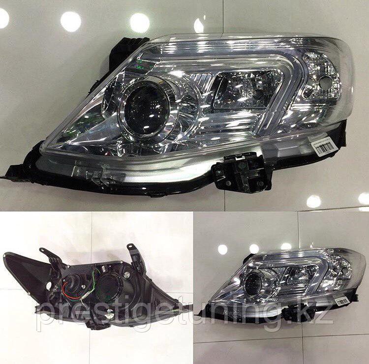 Передние фары на Toyota Fortuner 2012-15 тюнинг (Хром)