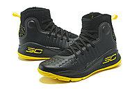 """Баскетбольные кроссовки Under Armour Curry IV """"Black/Yellow"""" (36-46), фото 2"""