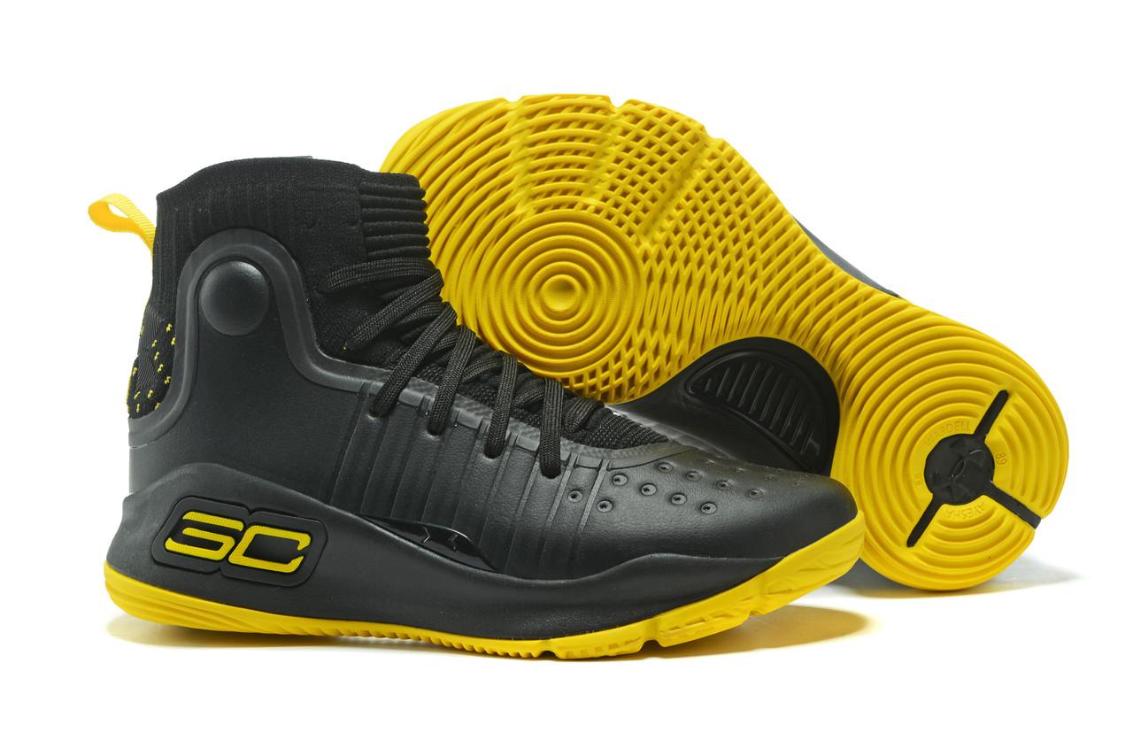 """Баскетбольные кроссовки Under Armour Curry IV """"Black/Yellow"""" (36-46)"""
