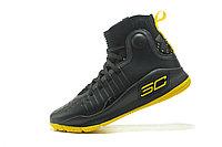 """Баскетбольные кроссовки Under Armour Curry IV """"Black/Yellow"""" (36-46), фото 3"""