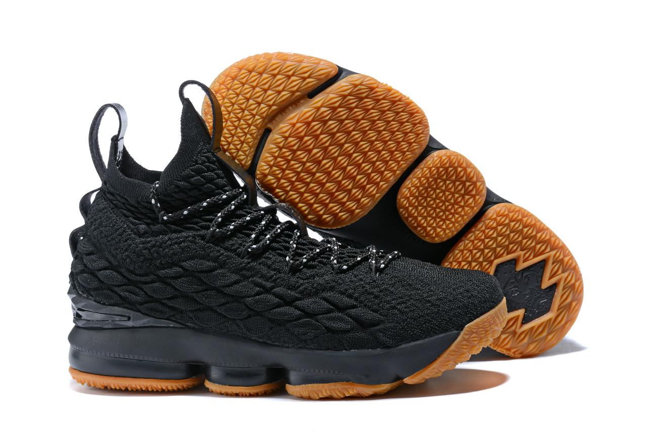 "Баскетбольные кроссовки Nike LeBron XV (15) ""Black/Gym"" (40-46)"