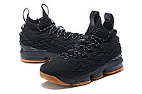 "Баскетбольные кроссовки Nike LeBron XV (15) ""Black/Gym"" (40-46), фото 2"