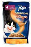Felix Sensations Утка с морковью в соусе Влажный корм для кошек, пауч, 85 г