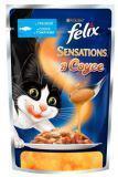Felix Sensations Треска с томатами в соусе Влажный корм для кошек, пауч, 85 г, фото 1