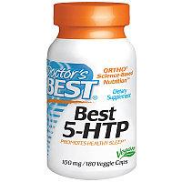 Doctor's Best, Best ТРИПТОФАН (усиленный) 5-HTP, 100 мг, 180  капсул. Гриффония.