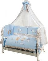 Комплект в кровать ВЕНЕЦИЯ ЛАПУШКИ Голубой, фото 1