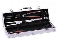 1013 FISSMAN Набор инструментов для барбекю 4 пр. в чемодане (нерж. сталь)