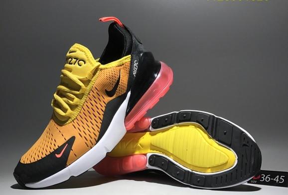 """Кроссовки Nike Air Max 270 """"Yellow-Black"""" - фото 2"""