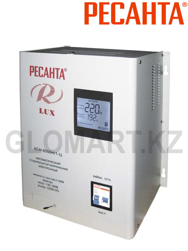 Электронный стабилизатор Ресанта АСН-8000Н/1-Ц Люкс