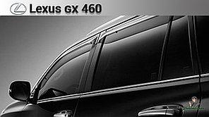 Оригинальные Ветровики (дефлекторы окон) Lexus GX460 2009+ OEM с креплением и логотипом