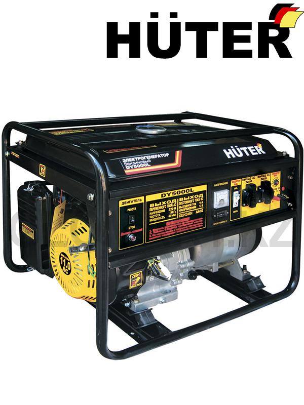 Генератор с ручным запуском Huter DY5000L (Хутер)