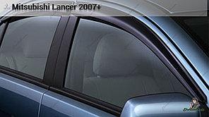 Оригинальные Ветровики (дефлекторы окон) Mitsubishi Lancer X 2007+