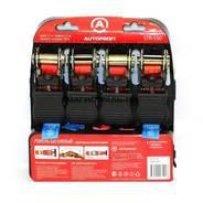 Ремень багажный AUTOPROFI, с храповым механизмом, 2,54 см/4,5м,прочность на разрыв 550кг