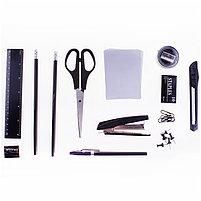 """Настольный органайзер OfficeSpace """"Офисный"""", 13 предметов, вращающийся, черный, фото 2"""