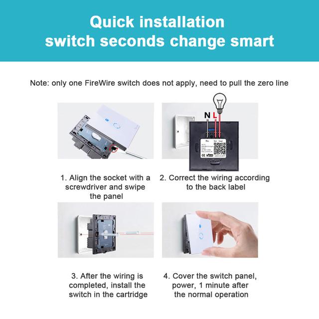 Sonoff Touch установка в стену